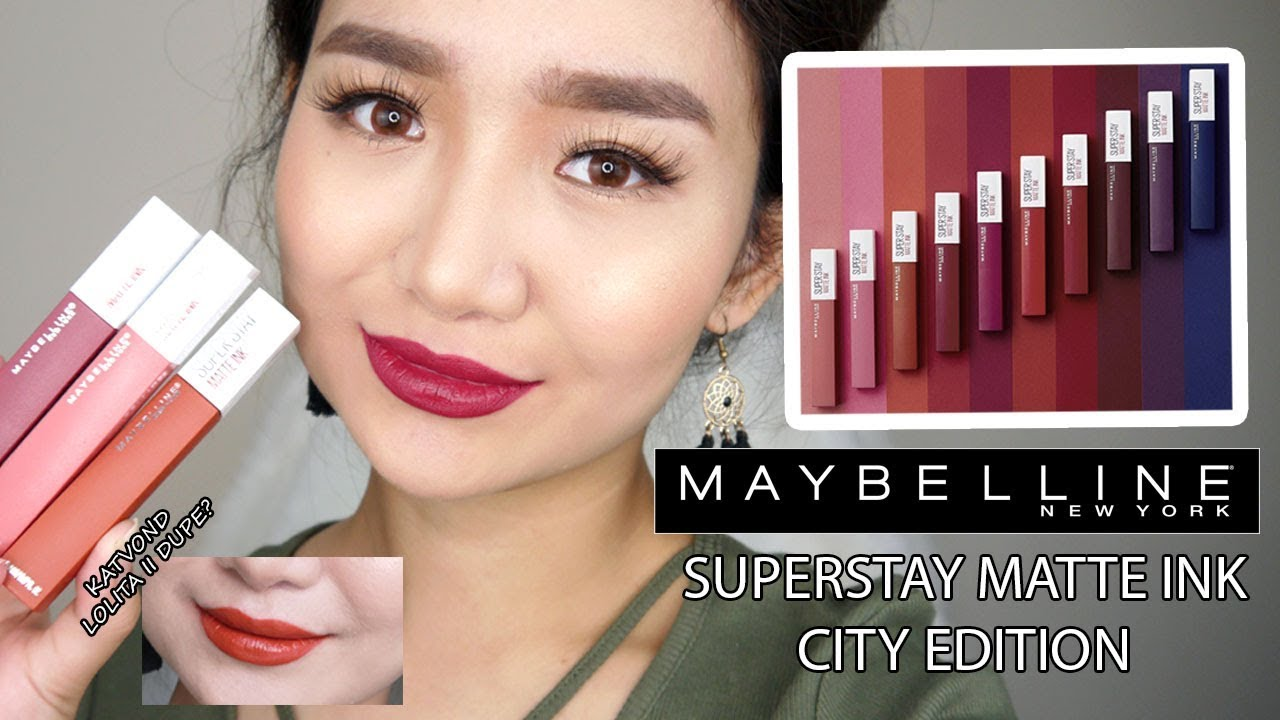 New Maybelline Superstay Matte Ink City Edition Review
