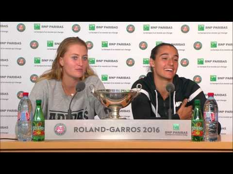 French Open 2016: Mladenovic Garcia FINAL Press Conference