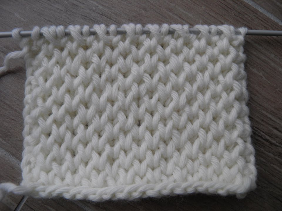 HONEYCOMB BRIOCHE KNITTING STITCH PATTERNS / NID DABEILLE / ???? ???? - ...