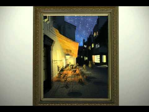 Van Gogh - Cafe Terrace at Night Animation - Randall Holl by Randall Holl