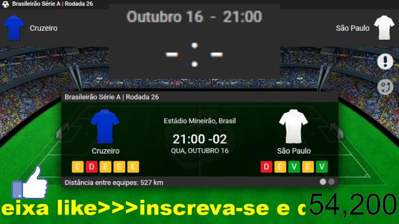 Cruzeiro 1x0 São Paulo  BRASILEIRÃO 2019 NARRAÇÃO 16/10/2019