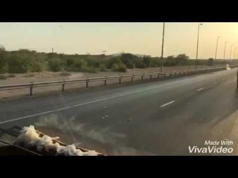 Dubai to saudi Arabia traveling beautiful road view