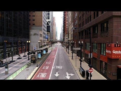 Chicago Coronavirus LockDown | Drone Aerial 4k Footage
