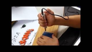 Mini Micro Small Drill Bit Small Aluminum Hand Drill+0.8-1.5mm Twist Drill Bit