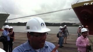 carga de coque en el puerto de Coatzacoalcos.