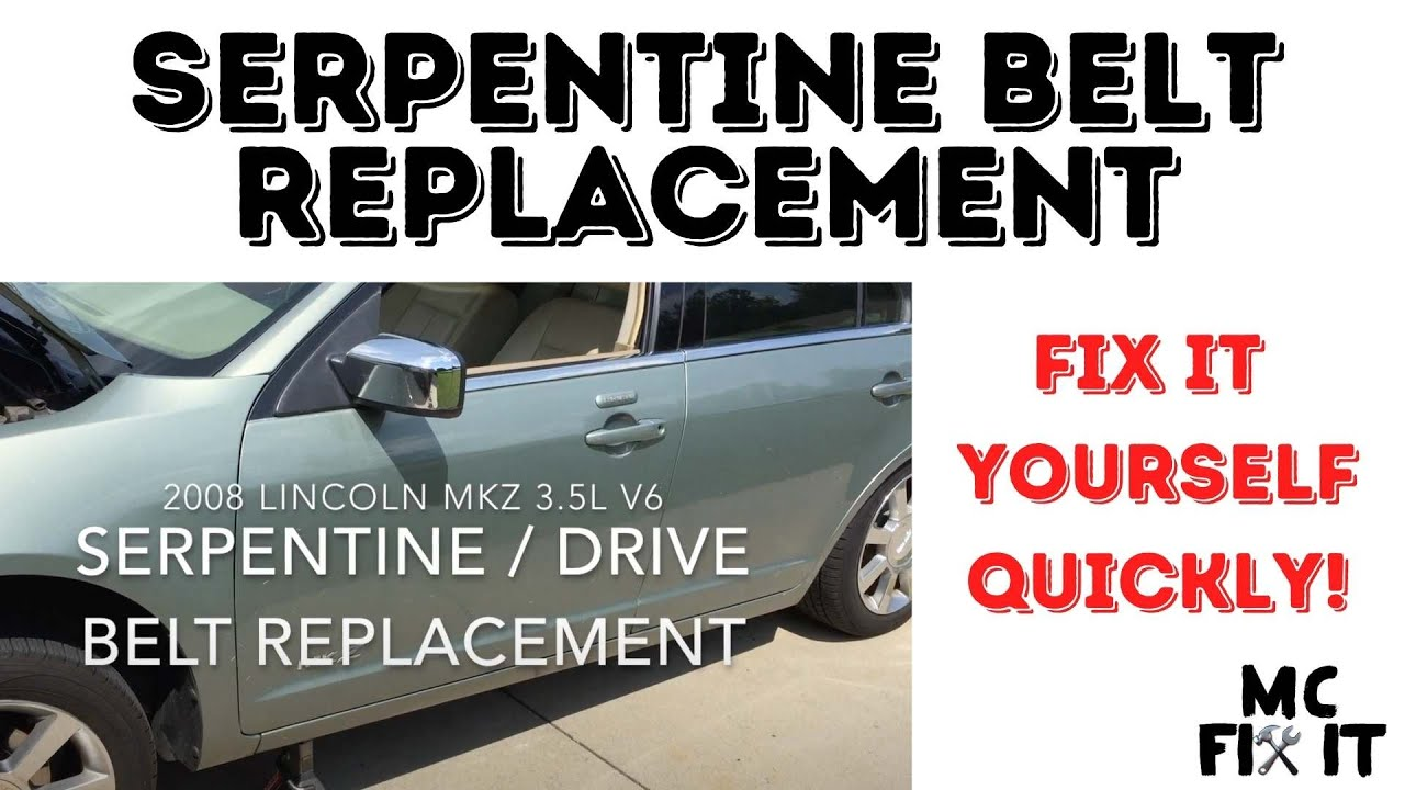 medium resolution of 2008 lincoln mkz serpentine drive belt replacement