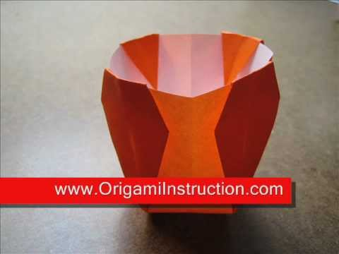Easy Origami Vase Youtube