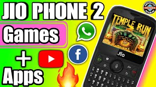 Jio Phone 2 - All New Apps and Games in jio phone 2 | Reliance Jio Phone 2 apps and games (2018)