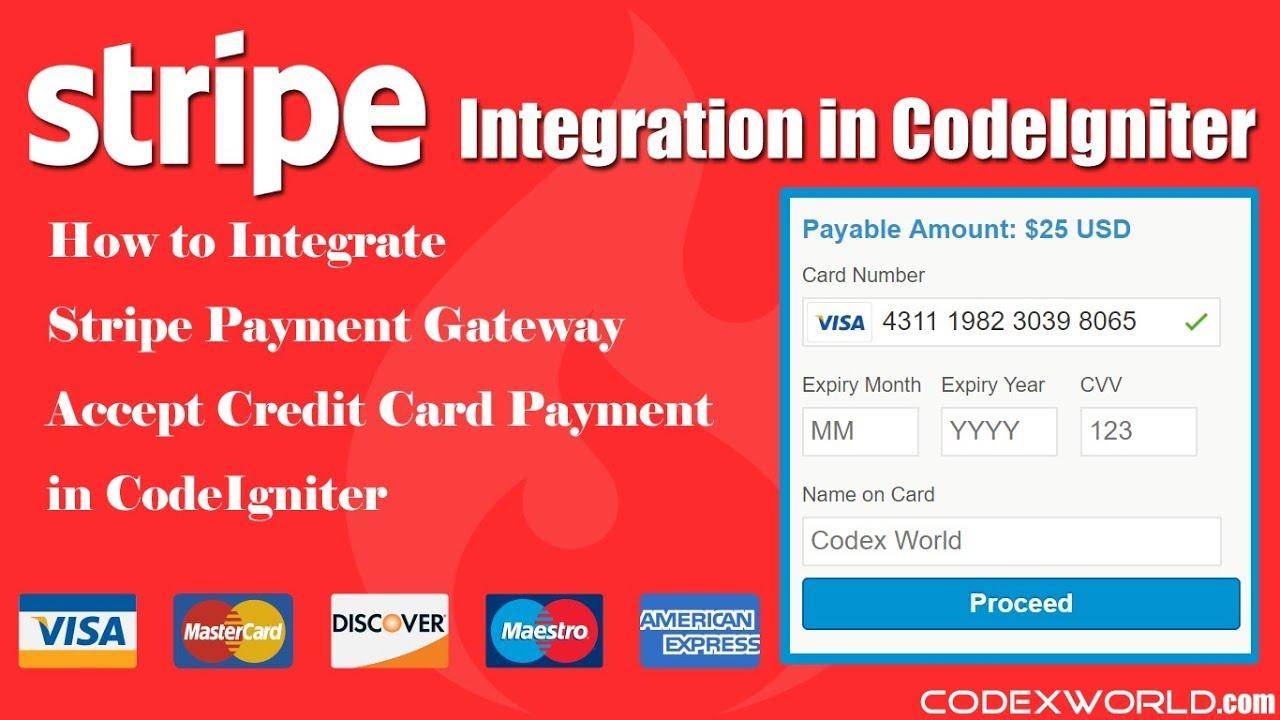 Stripe Payment Gateway Integration in CodeIgniter - CodexWorld