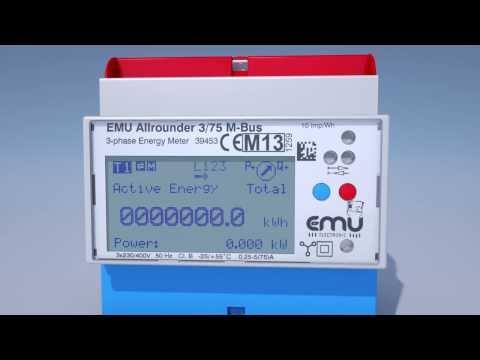 EMU Electronic SA: Configuration du compteur d'énergie EMU Allrounder et Professional
