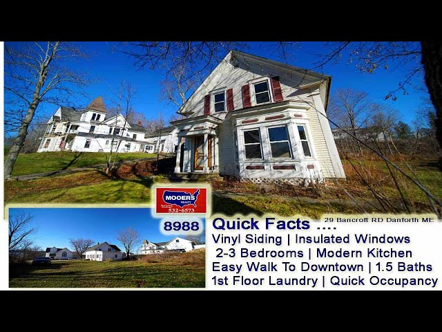 Cheap Priced Homes In Maine For Sale | 29 Bancroft RD Danforth ME MOOERS REALTY #8988