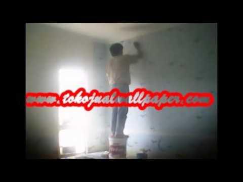 Cara pasang wallpaper dinding ala art 39 s decor youtube - Cara pasang wallpaper ...