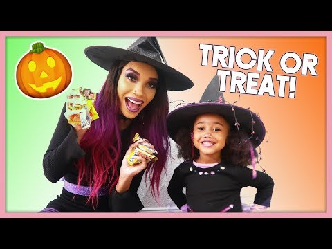 Her FIRST TIME Trick-or-Treating! | MOM VLOG