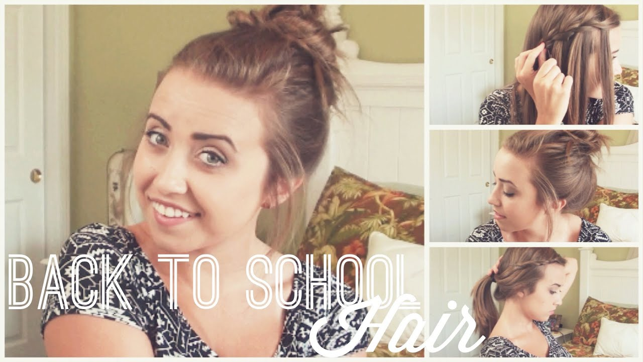 school - running late hairstyles