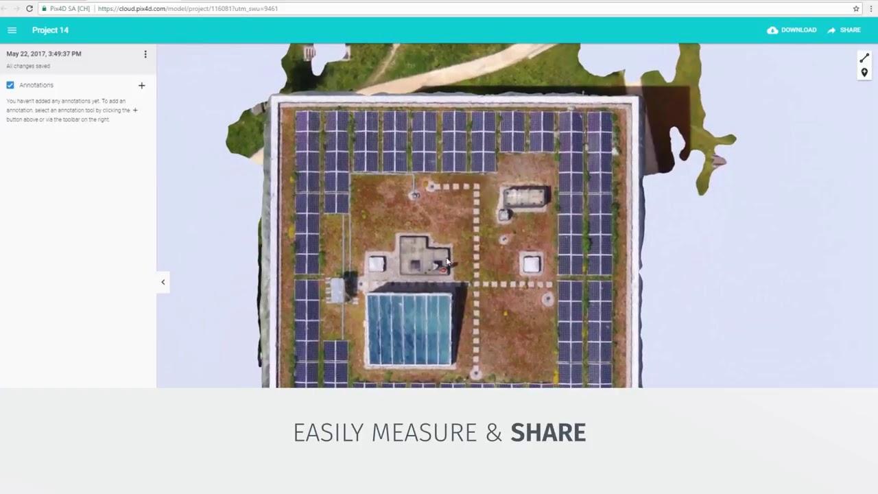 Pix4D - Roof inspection with Pix4Dcapture and Pix4Dmodel
