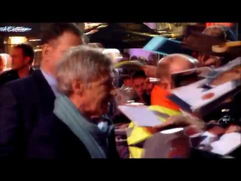 Harrison Ford signing at UK Premiere of Morning Glory