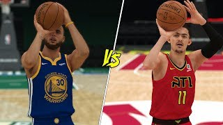 Can Trae Young Beat Stephen Curry In A Three Point Shooting Competition? NBA 2K19 Challenge!