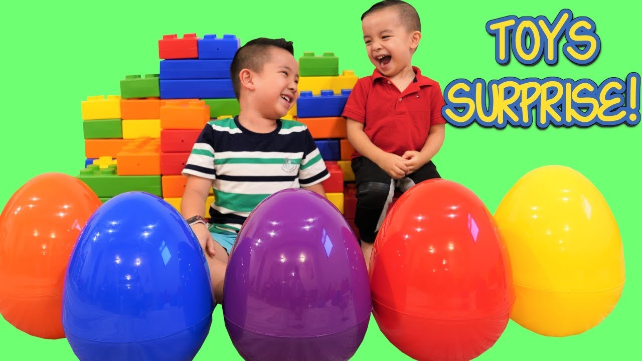 Giant  Eggs Toys Surprise Opening Fun With CKN Toys