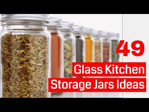 49 glass kitchen storage jars ideas
