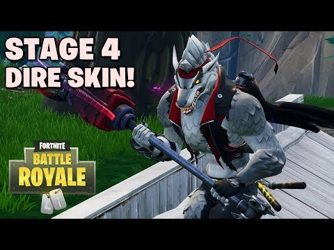 Stage 4 Skin Dire! White Wolf! - Fortnite: Battle Royale (Indonesia)