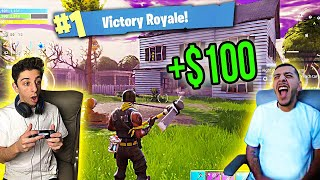 FaZe Rug TEACHES ME HOW TO PLAY FORTNITE! 1 KILL=$100