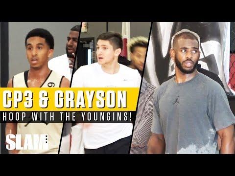 Chris Paul & Grayson Allen Hoop with TOP High School Players! 👀🔥