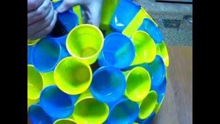 Шар из пластиковых стаканов /  of plastic cups