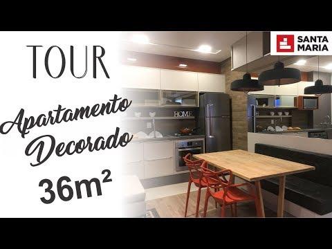 TOUR Apartamento Decorado | 36m² | Apartamento pequeno