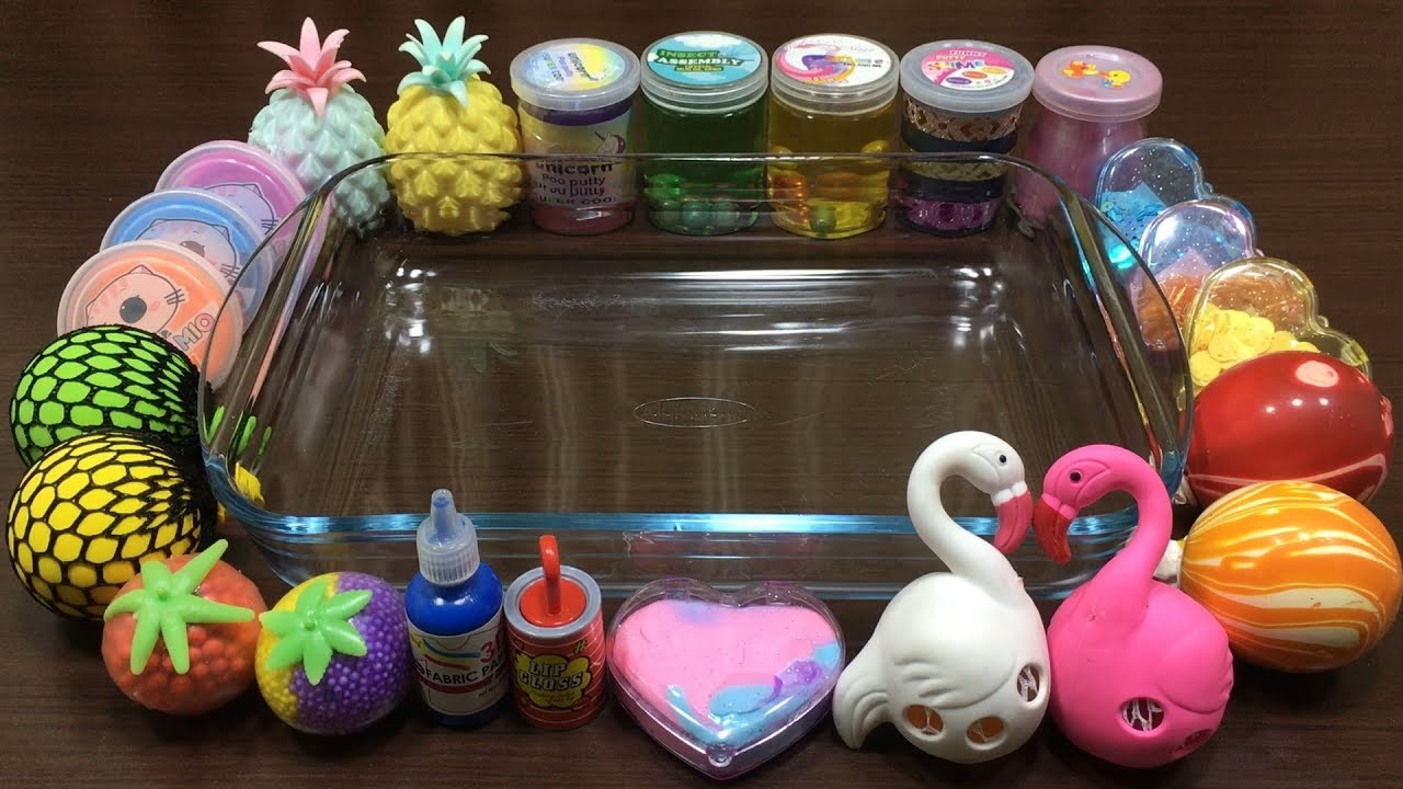 mixing-random-things-into-store-bought-slime-relaxing-satisfying-slime