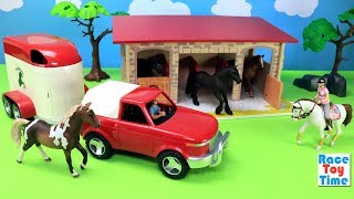 Horse Van and Stable Playset Toys For Kids