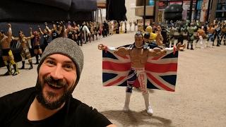 Using My WWE Mattel Figures As DOMINOS!!!
