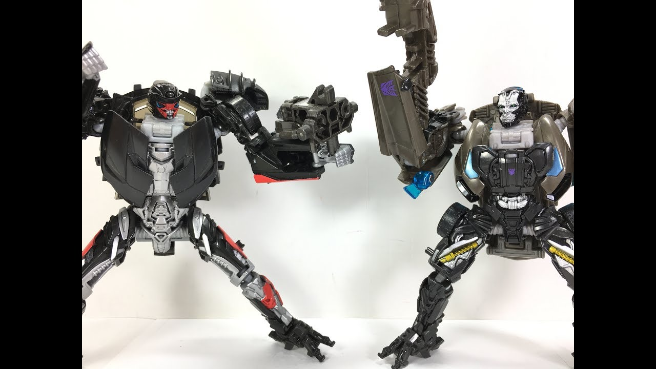 Transformers Tlk Deluxe Hot Rod Vs Aoe Deluxe Lockdown Chefatron Toy Review