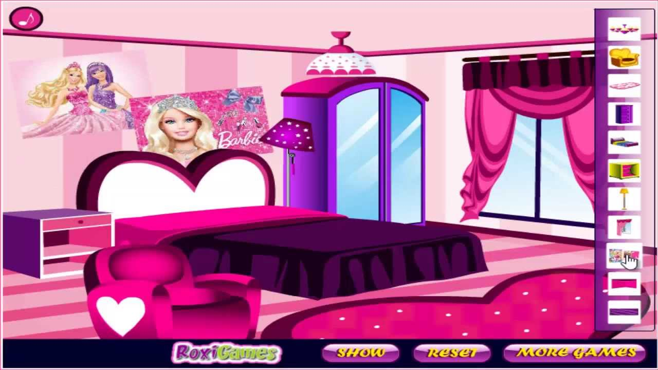 Barbie fan room decoration girls game baby games hd Free home decorating games