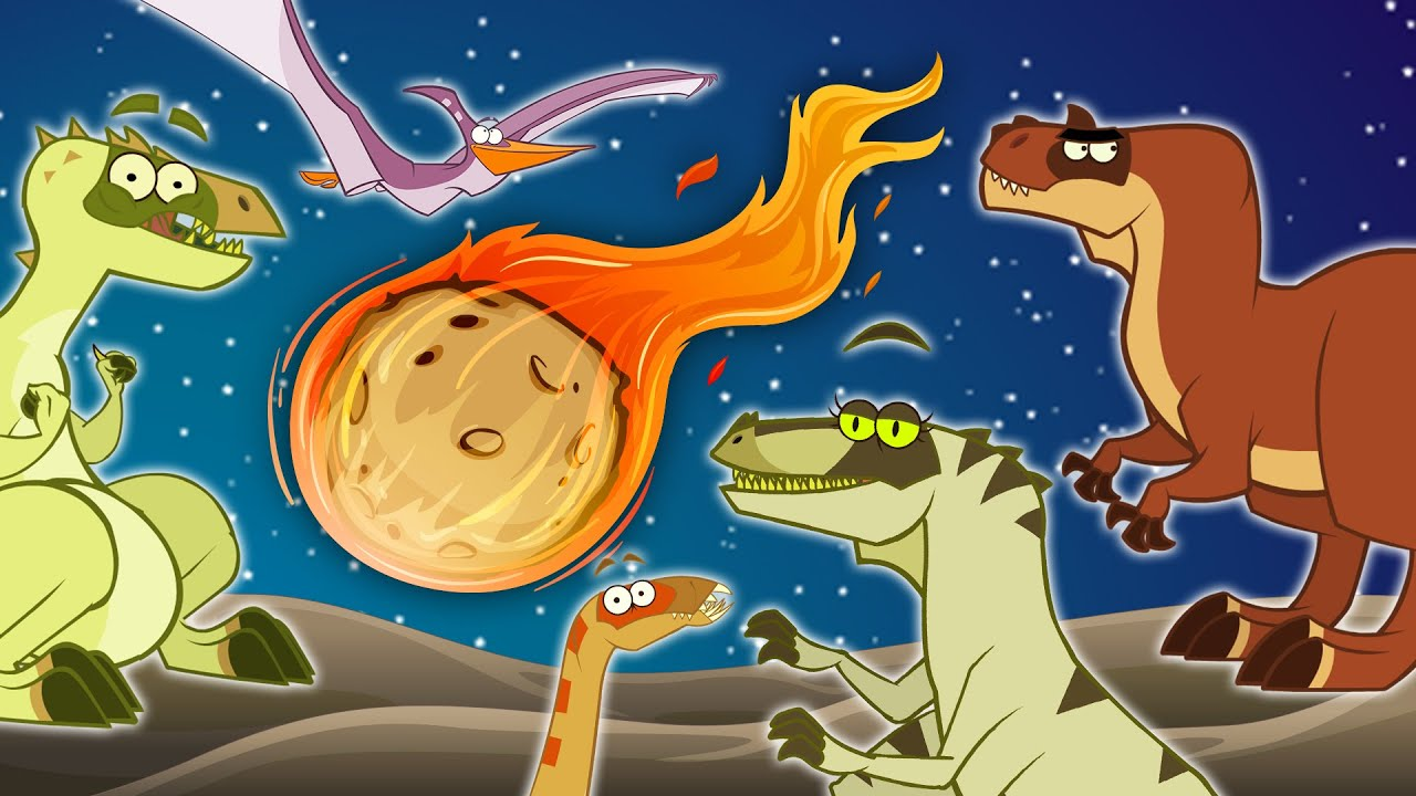 Dinosaurs Before The Meteor Hit Them | Funny Dinosaur Cartoons shows for Kids | Learn Dinosaur Facts