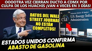 USA confirma que Obrador sigue importando gasolina y no hay desabasto.