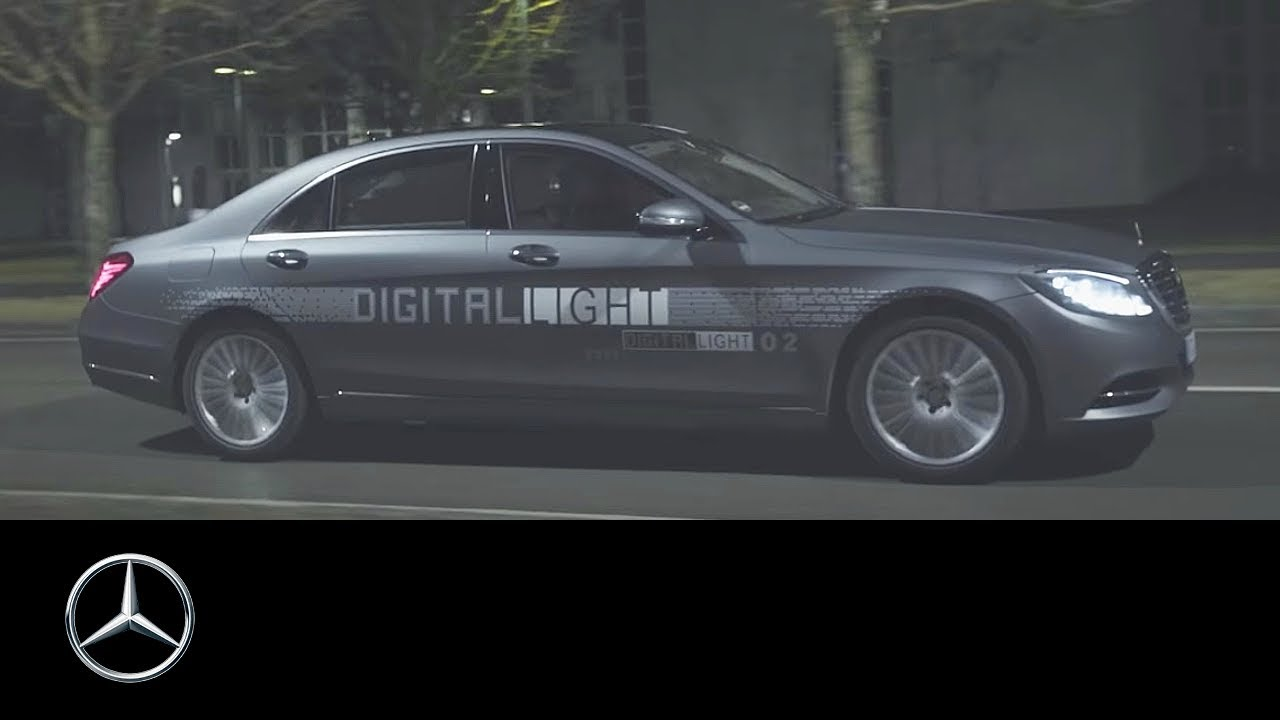 Mercedes benz digital light a light for the future for Mercedes benz lighting