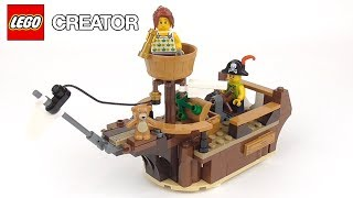 LEGO Creator Pirate Ship (31078) - Toy Unboxing and Speed Build