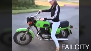 dnyann en komik motorsiklet kazalar d glmek garanti
