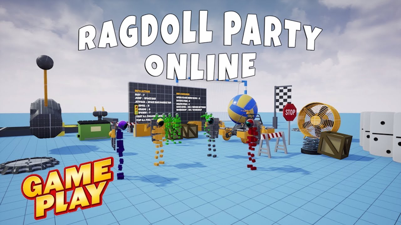 Ragdoll Party Online Gameplay Pc Steam Game 2020 Ultra Hd 1080p60fps Youtube