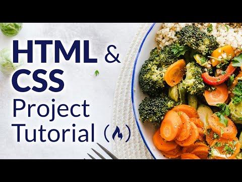 HTML & CSS Project Tutorial - Build a Recipes Website