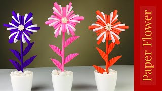 Paper Crafts For School | Paper Flowers | Paper Craft | Paper Flowers Easy | Paper Craft New
