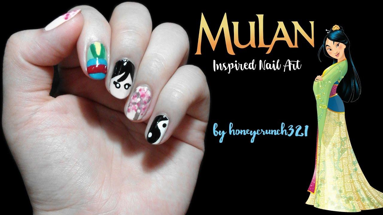 Mulan Inspired Nail Art | honeycrunch321 - YouTube