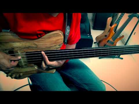 """""""RISE ME UP THE SUN"""" SOLO FRETLESS BASS (on A JCR Custom Bass) By Jesus Rico"""