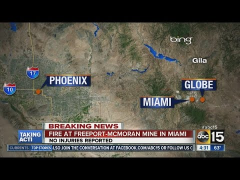 Fire A Mine In Miami-Globe Area