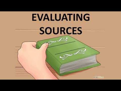 Evaluating Printed and Online Sources