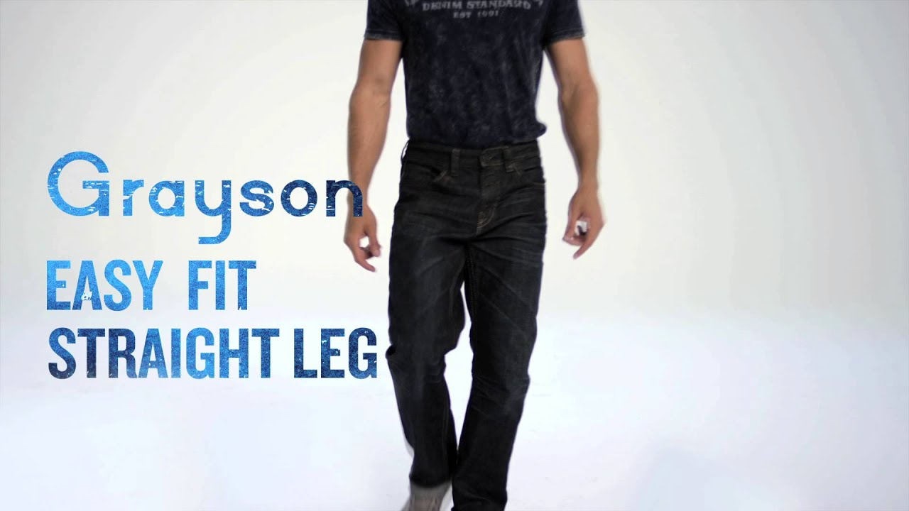 Silver Jeans Co. // Grayson - Easy Fit, Straight Leg - YouTube