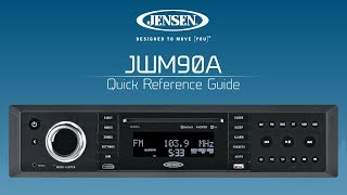 JENSEN® JWM90A | Quick Reference Guide