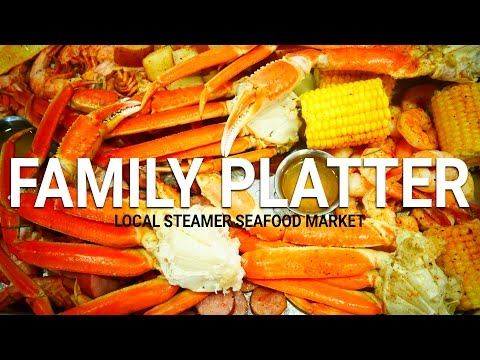The Family Platter at Local Steamer Seafood Market in Panama City Beach