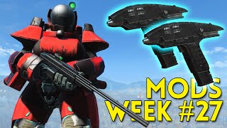 Fallout 4 TOP 5 MODS Week #27 - TELEPORT, PHASER, SKYBASE