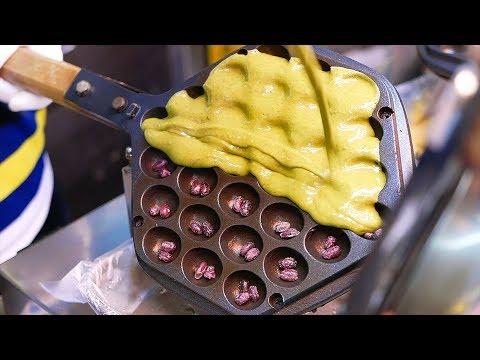 Taiwanese Street Food - BEST DESSERTS Egg Waffle, Bubble Tea Sandwich, Milk Mochi Taiwan